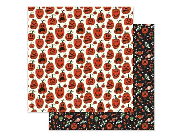 Echo Park Collection Trick Or Treat Paper 12 in. x 12 in. Pumpkins
