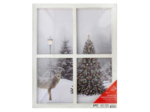 Darice Light Up Canvas 15.7 in. x 19.6 in. Christmas