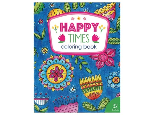 Leisure Arts Happy Times Coloring Book