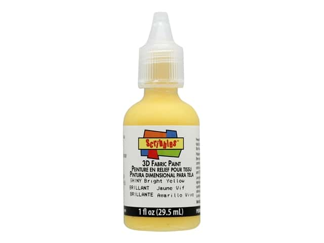 Scribbles 3D Fabric Paint - Bright Yellow 1 oz.