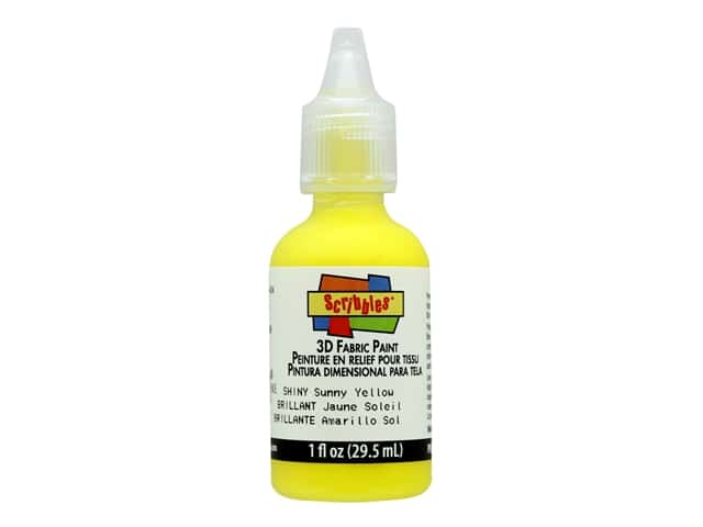 Scribbles 3D Fabric Paint - Sunny Yellow 1 oz.