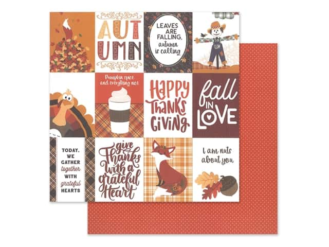 Photo Play Collection Mad 4 Plaid Fall Paper 12 in. x 12 in. Fall In Love