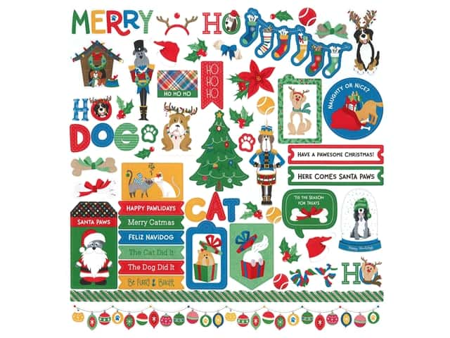 Photo Play Collection Muttcracker Sticker Element 12 in. x 12 in.