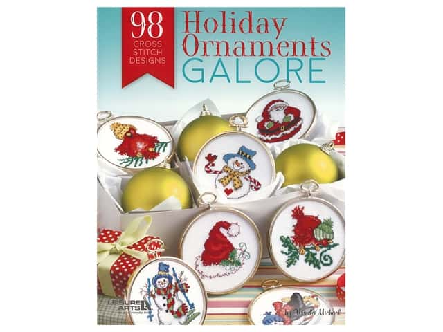 Leisure Arts Cross Stitch Holiday Ornaments Galore Book