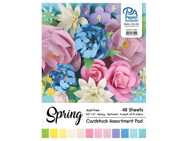 Paper Accents 8 1/2 x 11 in. Cardstock Pad 48 pc. Spring