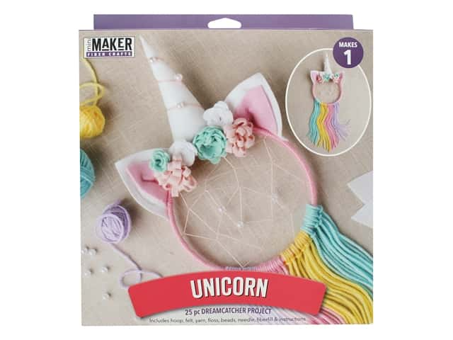 Leisure Arts Kit Mini Maker Dreamcatcher Unicorn