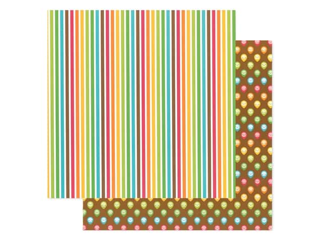 Doodlebug Collection I Heart Travel Paper 12 in. x 12 in. Happy Trails