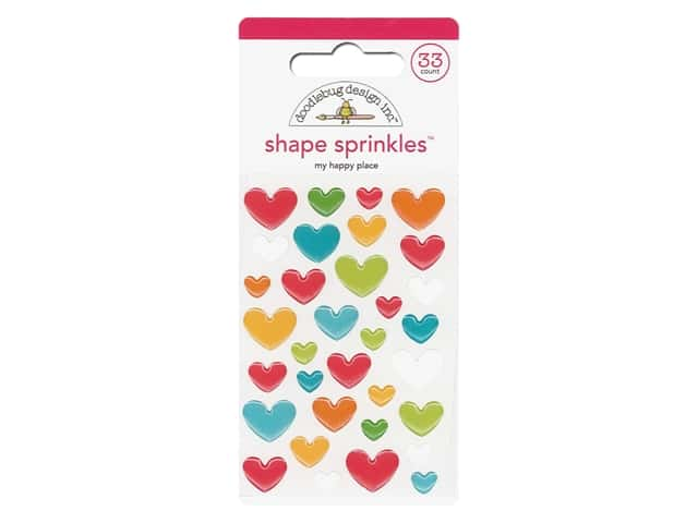 Doodlebug Collection I Heart Travel Sprinkles Shape My Happy Place