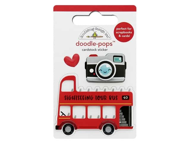 Doodlebug Collection I Heart Travel Doodle Pops Double Decker