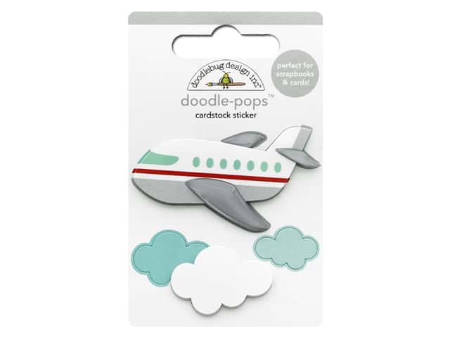 Doodlebug Collection I Heart Travel Doodle Pops Jet Set
