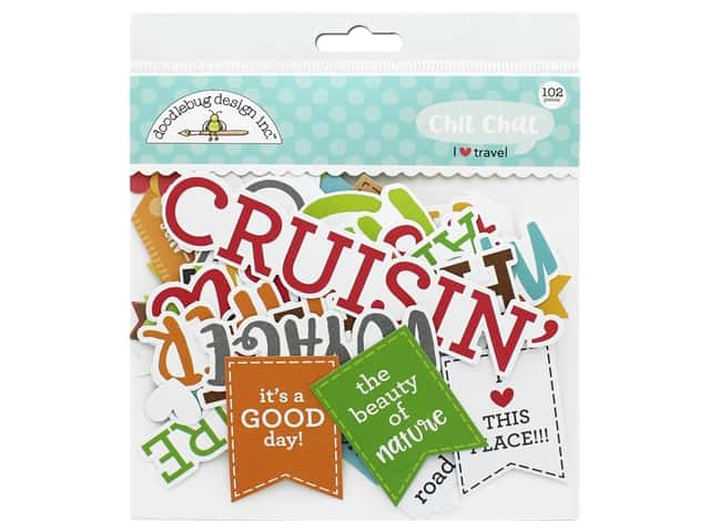 Doodlebug Collection I Heart Travel Chit Chat