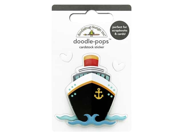 Doodlebug Collection I Heart Travel Doodle Pops Bon Voyage