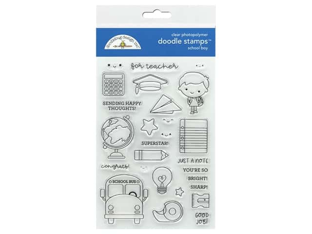 Doodlebug Collection School Days Doodle Stamps School Boy