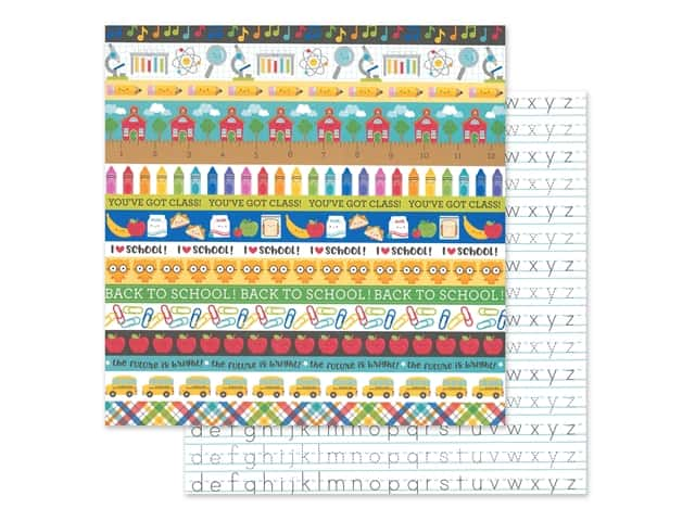 Doodlebug Collection School Days Paper 12 in. x 12 in. Just Write