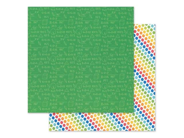 Doodlebug Collection School Days Paper 12 in. x 12 in. Arithmetic