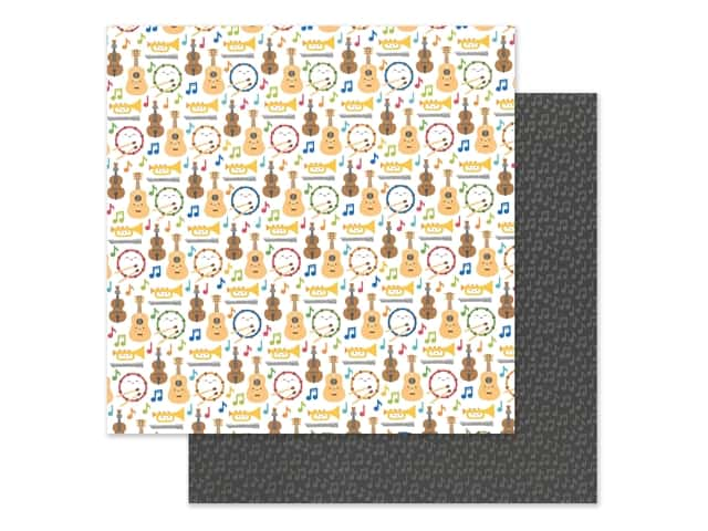 Doodlebug Collection School Days Paper 12 in. x 12 in. Band Class