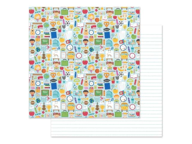 Doodlebug Collection School Days Paper 12 in. x 12 in.