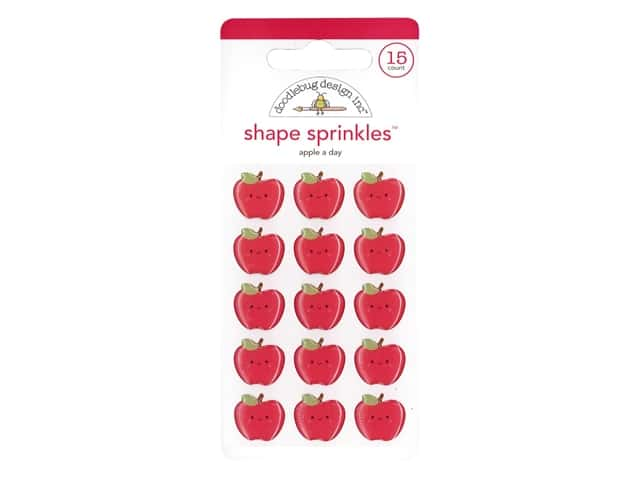 Doodlebug Collection School Days Sprinkles Shape Apple A Day
