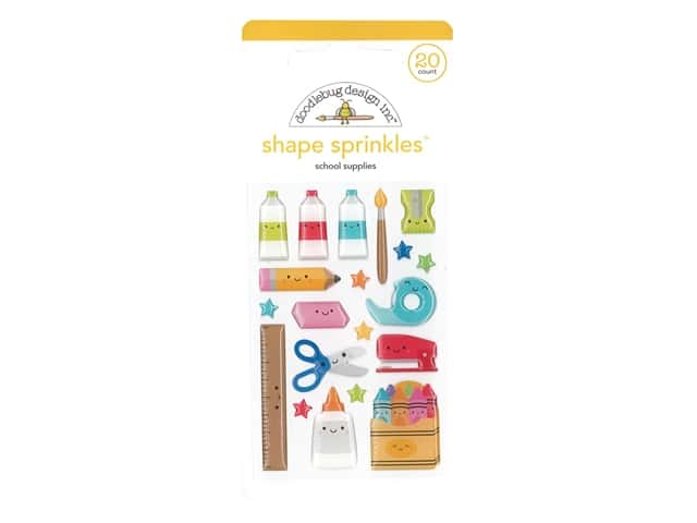 Doodlebug Collection School Days Sprinkles Shape School Supplies