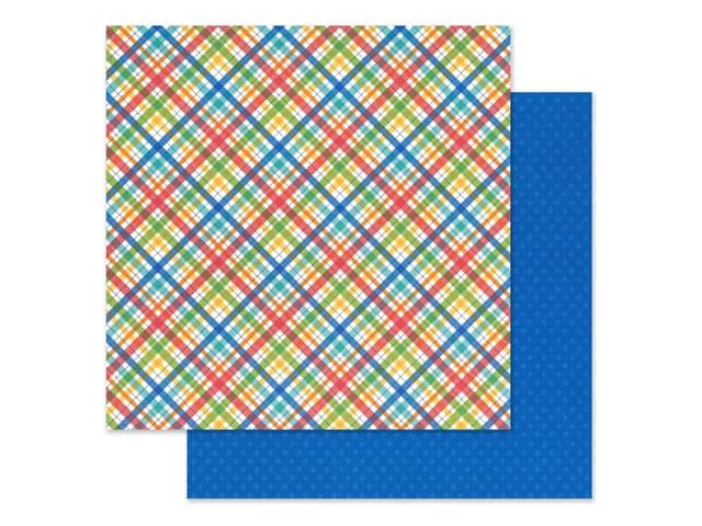 Doodlebug Collection School Days Paper 12 in. x 12 in. Playground Plaid