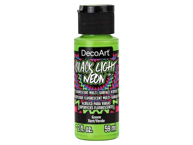 Decoart Black Light Neon Paint 2 oz Green