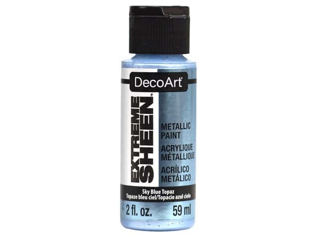 Decoart Extreme Sheen Metallic Paint 2 oz Sky Blue Topaz