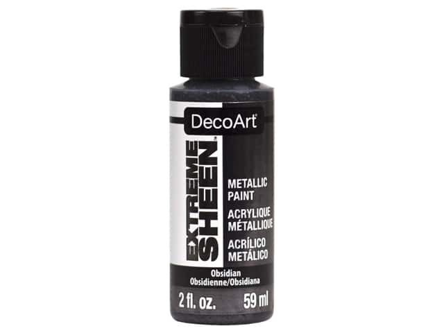 Decoart Extreme Sheen Metallic Paint 2 oz Obsidian