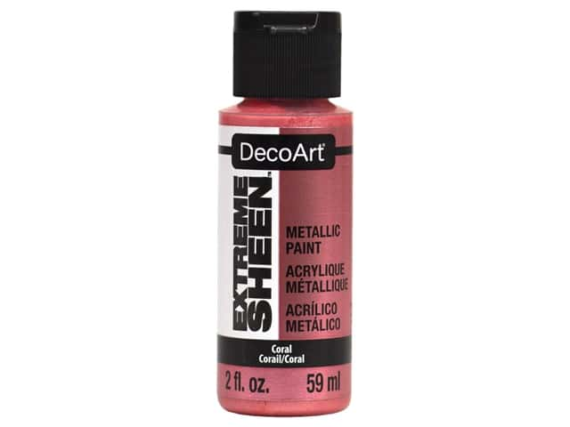Decoart Extreme Sheen Metallic Paint 2 oz Coral