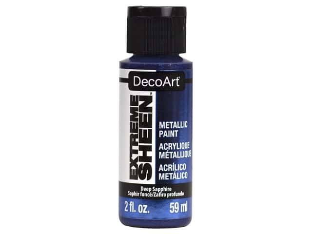 Decoart Extreme Sheen Metallic Paint 2 oz Deep Sapphire