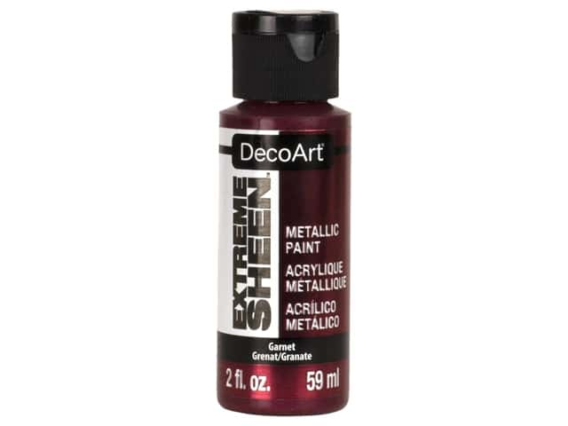 Decoart Extreme Sheen Metallic Paint 2 oz Garnet