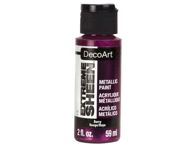 Decoart Extreme Sheen Metallic Paint 2 oz Berry