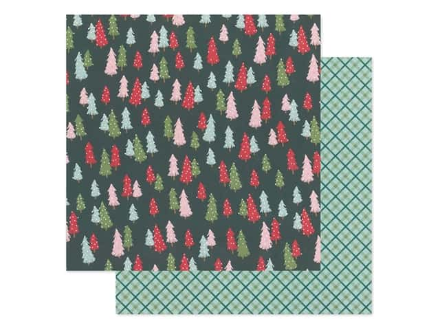 Pebbles Collection Merry Little Christmas Paper 12 in. x 12 in. Oh Christmas Tree