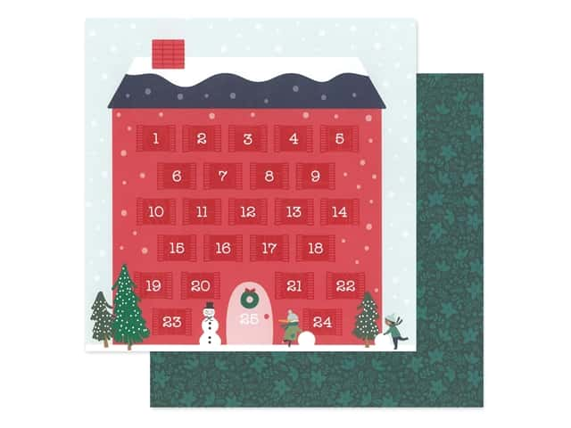 Pebbles Collection Merry Little Christmas Paper 12 in. x 12 in. Counting Down