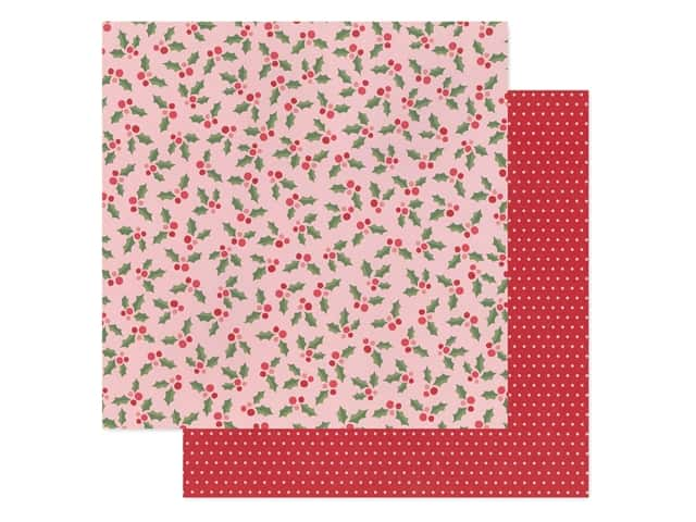 Pebbles Collection Merry Little Christmas Paper 12 in. x 12 in. Jolly Holly