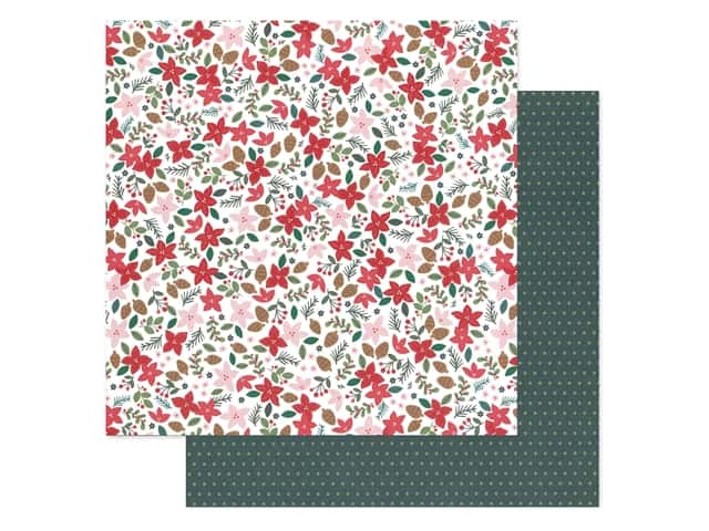 Pebbles Collection Merry Little Christmas Paper 12 in. x 12 in. Deck The Halls