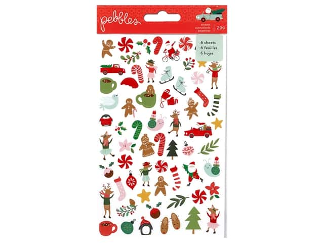 Pebbles Collection Merry Little Christmas Sticker Book Mini
