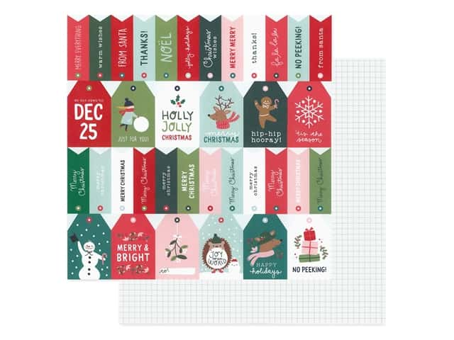 Pebbles Collection Merry Little Christmas Paper 12 in. x 12 in. Just For You