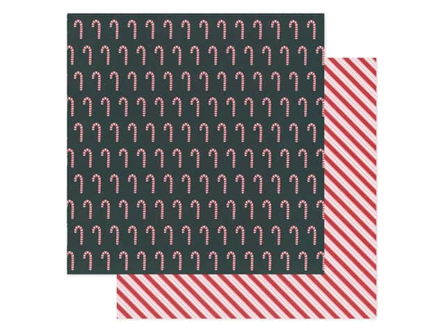 Pebbles Collection Merry Little Christmas Paper 12 in. x 12 in. Candy Cane