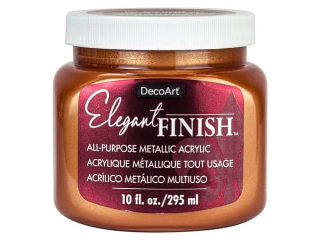 DecoArt Elegant Finish Paint 10 oz Metallic Bronze