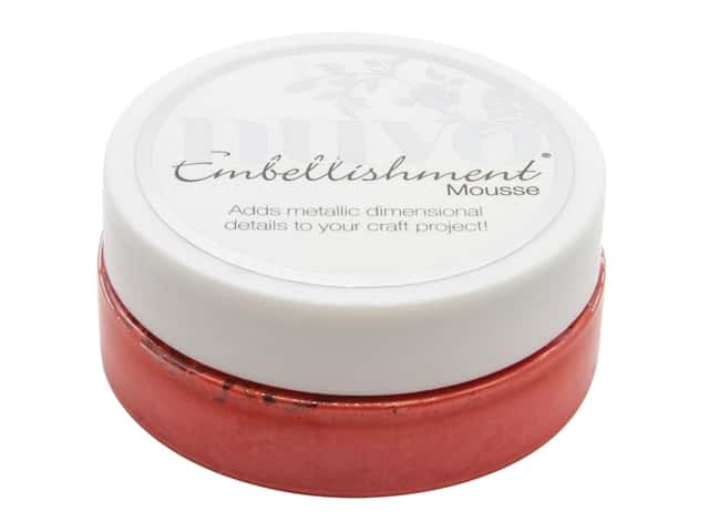 Nuvo Embellishment Mousse 2.2 oz Fusion Red