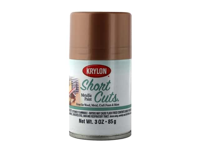 Krylon Shortcuts Aerosol Paints 3 oz Metallic Blush Gold
