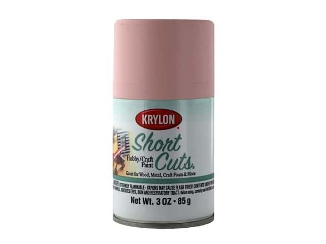 Krylon Shortcuts Aerosol Paints 3 oz Satin Rose Petal