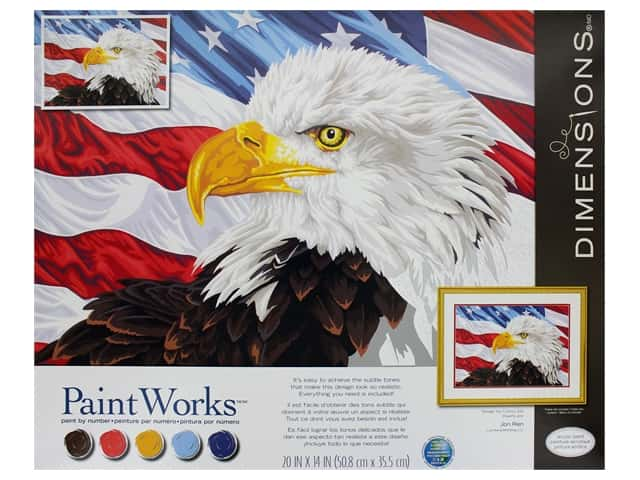 Paintworks Paint By Number Kit 20 x 14 in. Bald Eagle