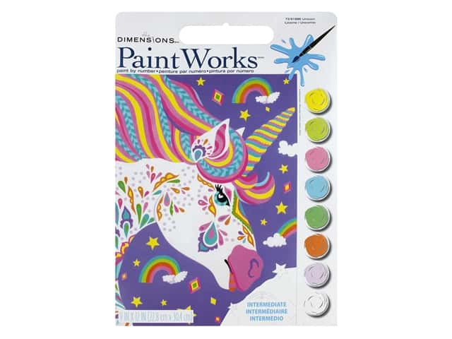 Paintworks Paint By Number Kit 9 x 12 in. Unicorn