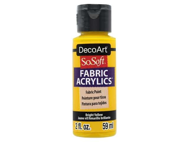 DecoArt SoSoft Fabric Paint 2 oz. Bright Yellow