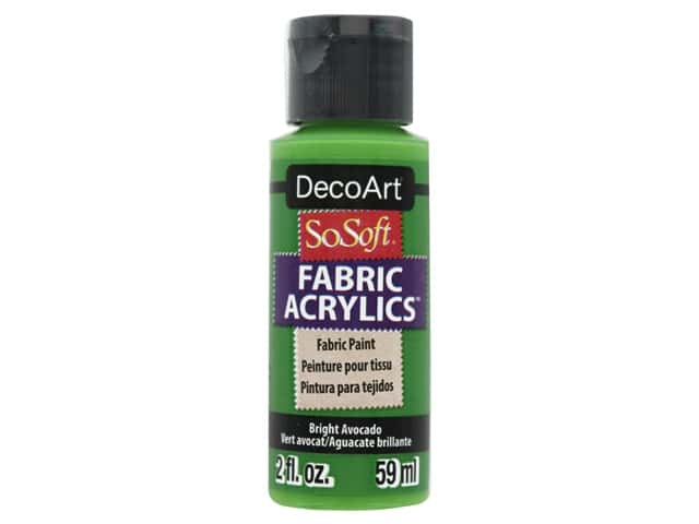 DecoArt SoSoft Fabric Paint 2 oz. Bright Avocado