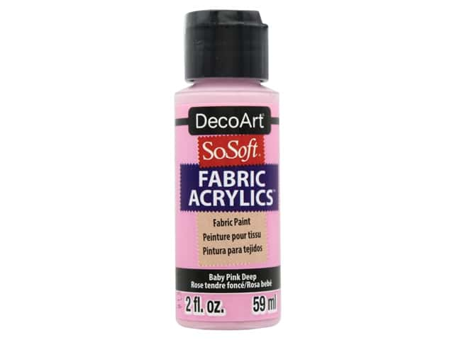 DecoArt SoSoft Fabric Paint 2 oz. Baby Pink Deep