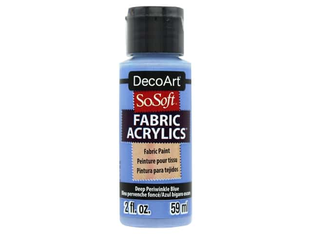DecoArt SoSoft Fabric Paint 2 oz. Deep Periwinkle Blue