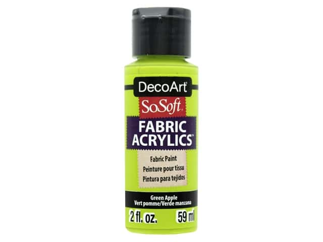 DecoArt SoSoft Fabric Paint 2 oz. Green Apple