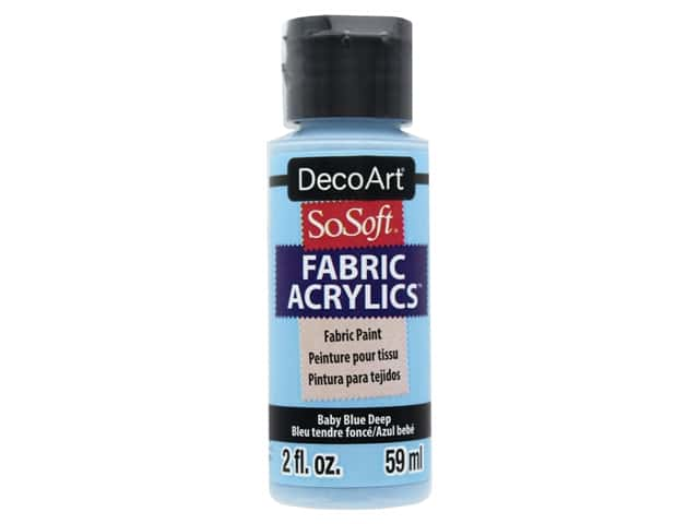 DecoArt SoSoft Fabric Paint 2 oz. Baby Blue Deep